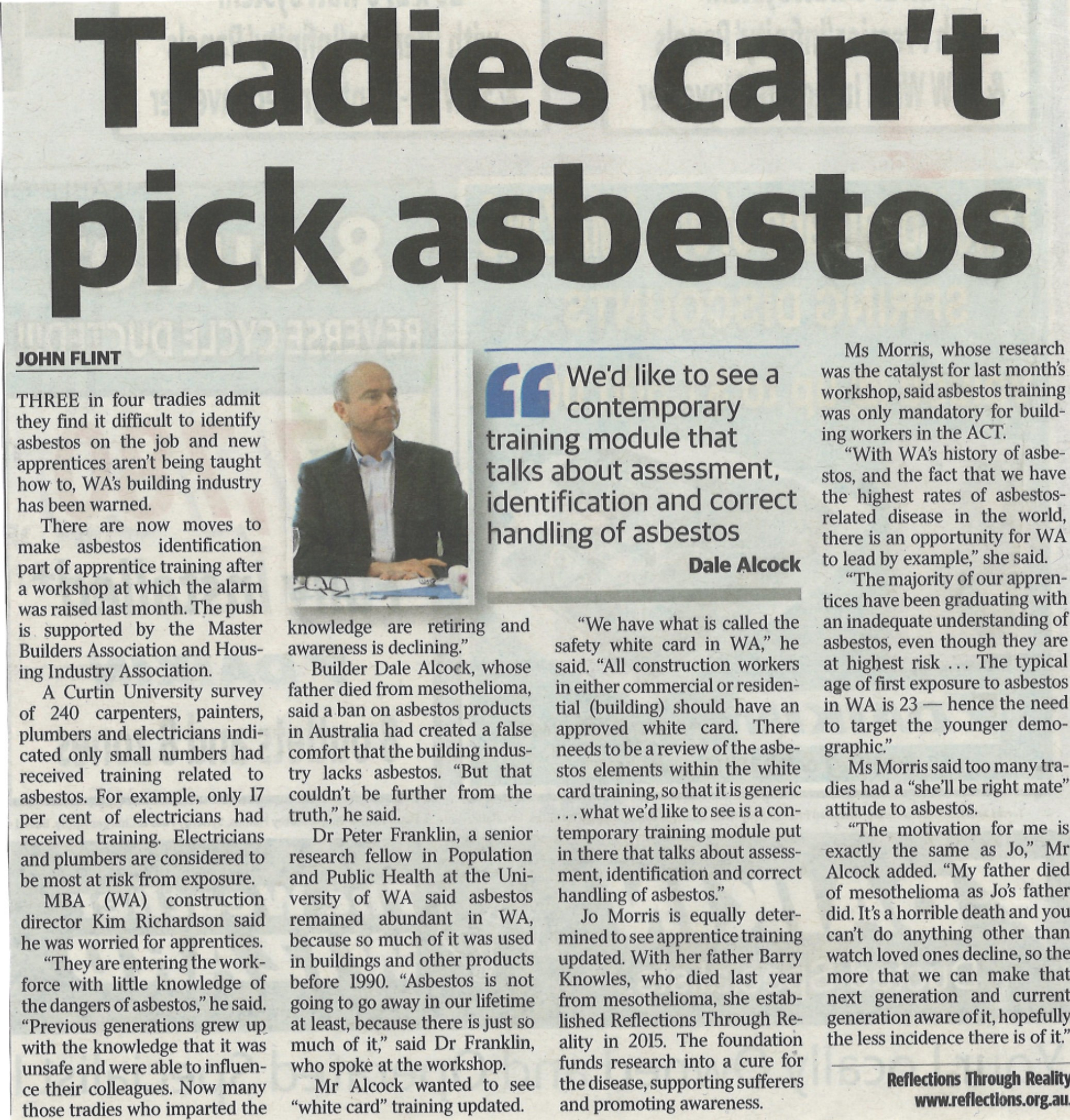 Tradies Can't Pick Asbestos